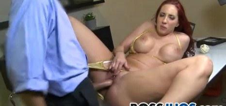 Demanding boss ask her personnel to fuck her