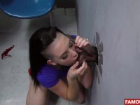 Emo looking Rachael Madori gets nailed at gloryhole